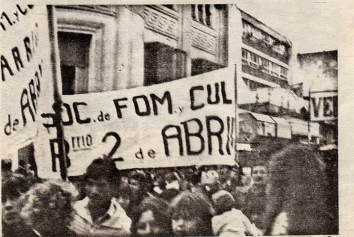 Alte Brown-. Festejo y reconocimiento en el Barrio 2 de Abril.