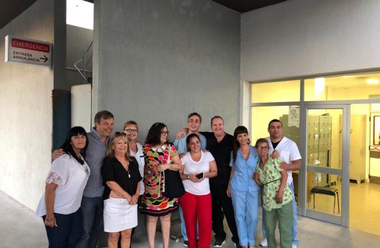 Alte. Brown.- Cascallares en navidad visito la guardia de Maternidad del Hospital Lucio Melendez