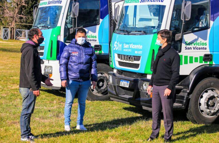 Nuevos camiones al servicio de los vecinos de San Vicente.