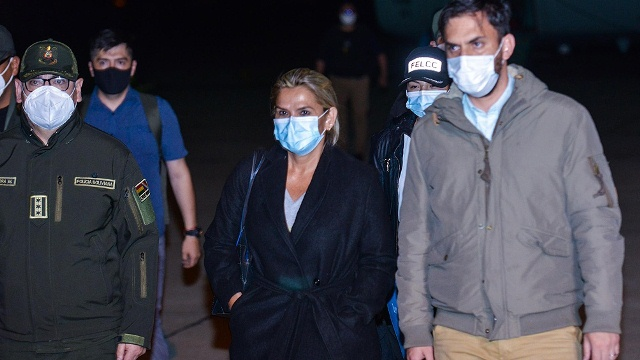 La expresidenta de facto Áñe, está detenida en La Paz y declarará por el golpe