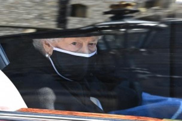 La reina Isabel II encabeza en Windsor el funeral del duque de Edimburgo